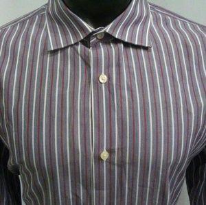 Banana Republic Slim Fit Striped Dress Shirt